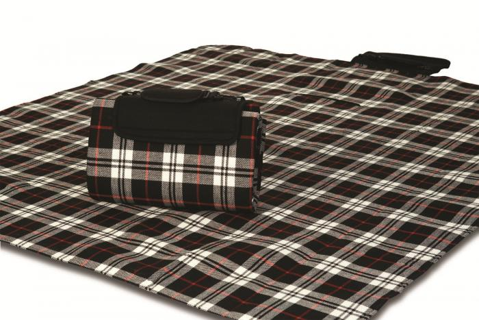 """Mega Mat Folded Picnic Blanket with Shoulder Strap - 68"""" x 82"""" (Red Scottie)"""