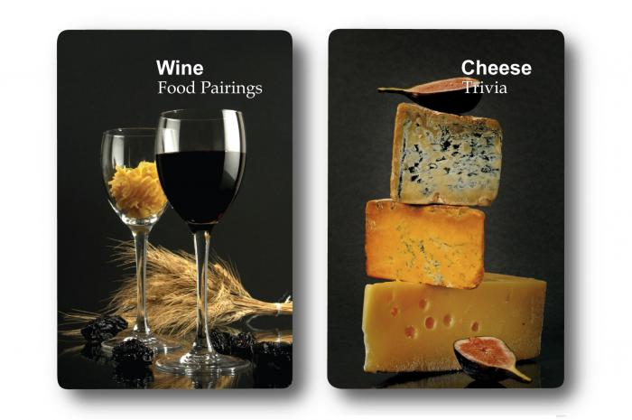 Finders Forum Double Deck Wine & Cheese Trivia Playing Cards