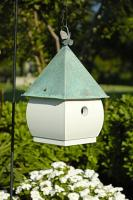 Heartwood Hadley Park Birdhouse, White with Verdi Roof