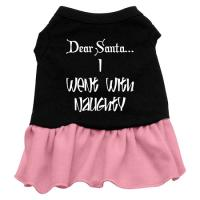 Went With Naughty Dog Dress - Black with Pink/Medium