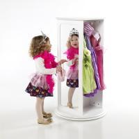 Guidecraft Rotating Dress Up Storage - White