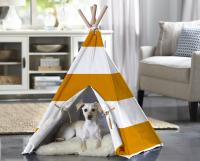 Merry Products Orange Stripe Medium Pet Teepee