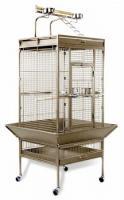 Medium Wrought Iron Select Bird Cage - Sage Green