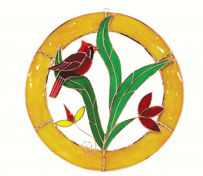 Gift Essentials Large Cardinal Circle Window Panel