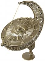 Sun and Moon Sundial - French Bronze