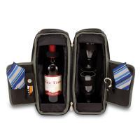 Picnic Time Estate One Bottle Deluxe Wine Tote, Black