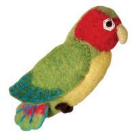 DZI Handmade Designs Love Bird Woolie Ornament