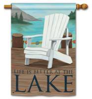 Magnet Works Lake Life Standard Flag