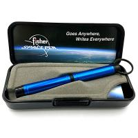 Fisher Space Pens Backpacker Pen, Colored Aluminum w/Key Chain, Blue