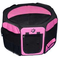 """Pet Gear Travel Lite Soft-Sided Pet Pen with Removable Top Pink 29"""" x 29"""" x 17"""""""