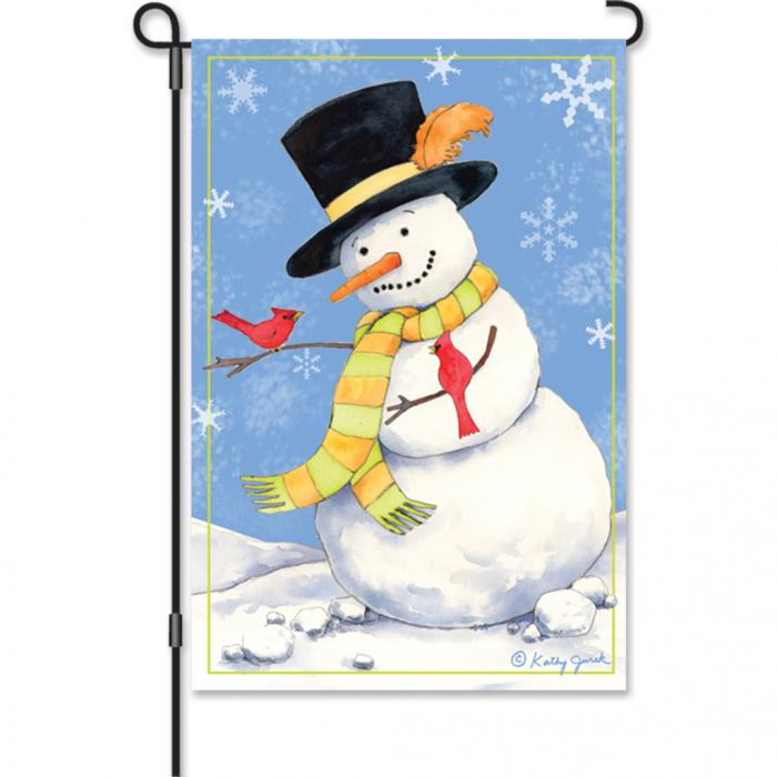 Premier Designs Snowman & Cardinals Garden Flag