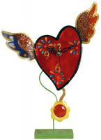 Metal Flying Heart Clock with Pendulum