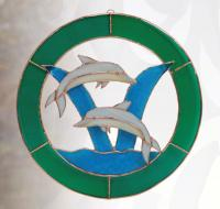 Gift Essentials Large Dolphin Circle Window Panel