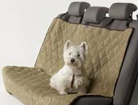 Petego Animal Basics Velvet Seat Cover Rear Seat  Sage-Espresso