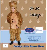 Dress Up America Cuddly Little Brown Bear - Size 2