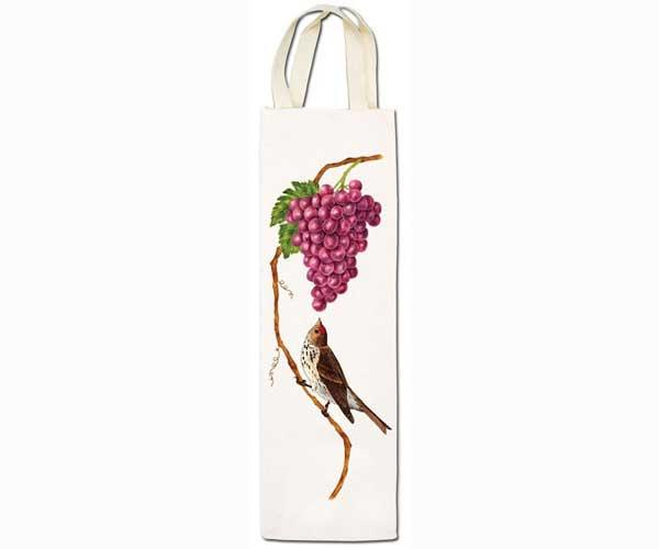 Alice's Cottage Bird with Grape Wine Caddy