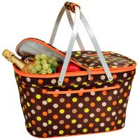 Picnic at Ascot Collapsible Insulated Basket - Julia Dot