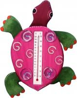 Songbird Essentials Fuschia Turtle Large Window Thermometer
