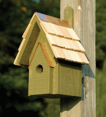 Heartwood Classic Birdhouse, Pinion Green