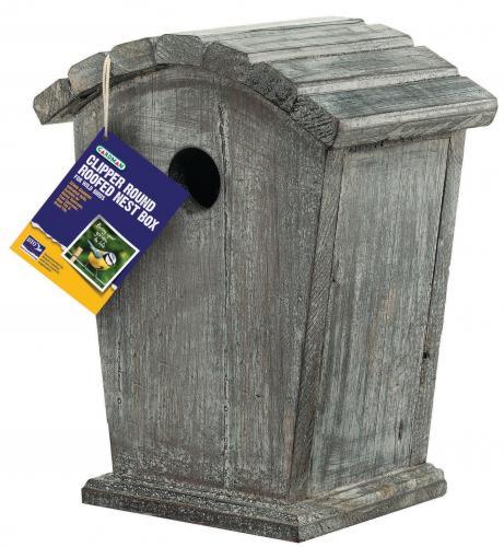 Rainbow-Gardman Clipper Nest Box Curved Roof Birdhouse