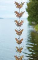 Ancient Graffiti Butterflies Flamed Hanging Ornaments
