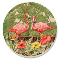 Counter Art Tropical Flamingos Coasters Set of 4