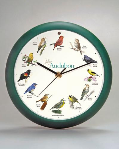 Mark Feldstein Audubon 8 in Green Singing Clock