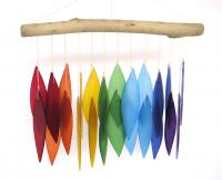 Blue HandWorks Rainbow & Driftwood Windchime