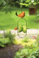 Ancient Graffiti Bird Fruit Spear Spice Bird Feeder