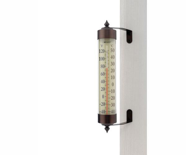 Conant Custom Brass Grande View Thermometer Bronze Patina Finish