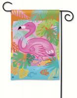 Magnet Works Fancy Flamingo Garden Flag