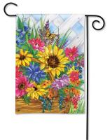 Magnet Works Blooming Basket Garden Flag
