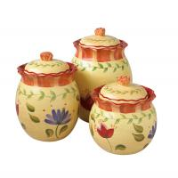 Pfaltzgraff Napoli Sealed Canister 3 Pc Set
