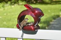 Good Directions Enchanted Rabbit Ruby Red Bird Feeder