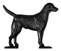 "30"" Black Lab Weathervane - Rooftop Black"