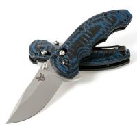 Benchmade 300-1 AXIS Flipper, 154CM Plain Blade, Blue & Black G10 Handles