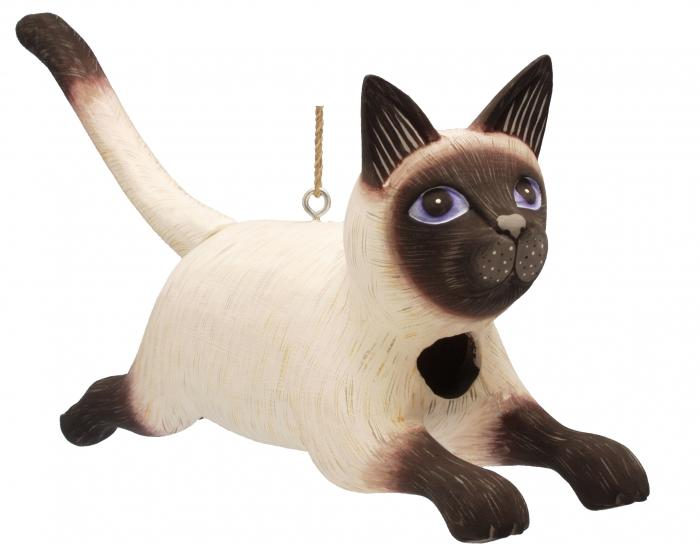 Songbird Essentials Leaping Siamese Cat Birdhouse