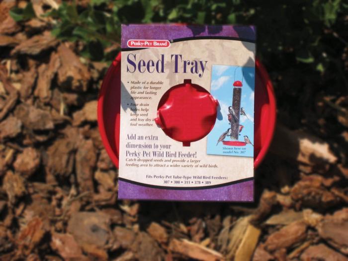 Perky Pet Red Bird Seed Tray