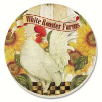 Counter Art Farmland Rooster Coasters Set of 4