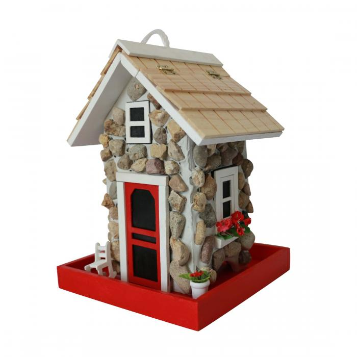 Home Bazaar Fieldstone Guest Cottage Bird Feeder - Stone