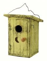 Songbird Essentials Birdie Loo Yellow Birdhouse