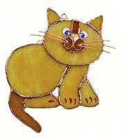 Gift Essentials Tan Cat Suncatcher