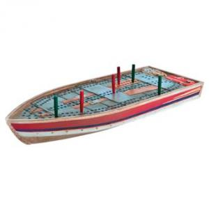 Outside-Inside Tin Boat Cribbage Board