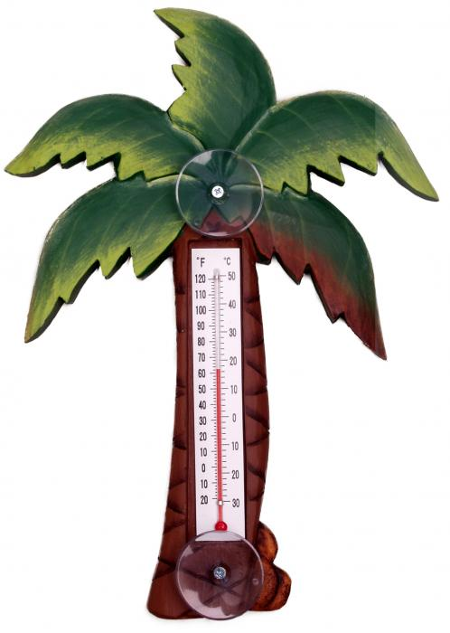 Songbird Essentials Palm Tree Large Window Thermometer