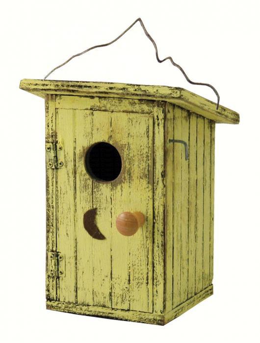 Songbird Essentials Birdie Loo Yellow Birdhouse