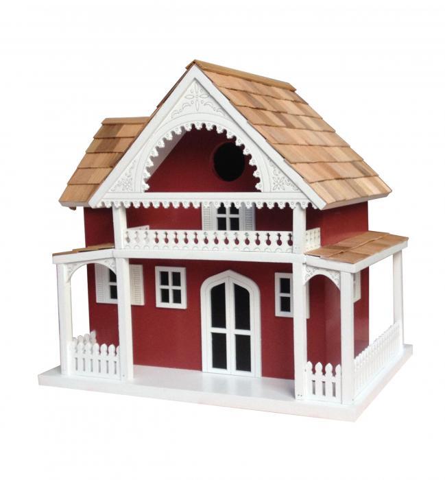 Home Bazaar  Shelter Island Summer Cottage Birdhouse - Red
