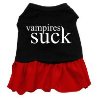 Vampires Suck Dog Dress - Red Med