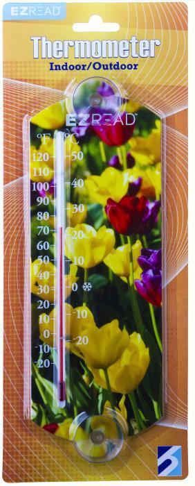 Headwind Flowers Window Thermometer