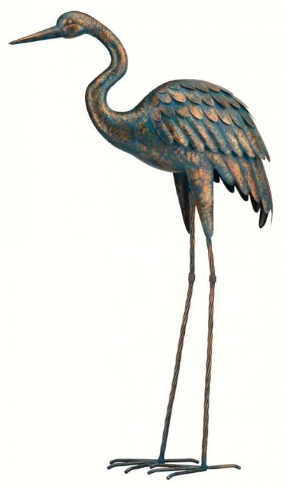 Regal Art & Gift Patina Crane 44 inch
