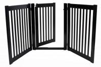 Walk Through 3 Panel Free Standing Pet Gate - Black